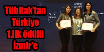 Tübitak'tan Türkiye 1.lik ödülü