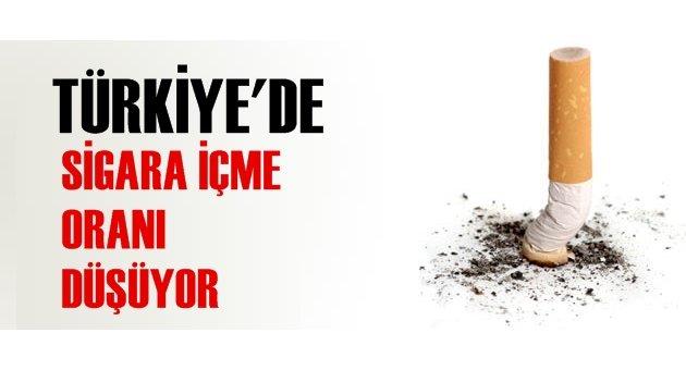 Türkiye'de sigara içme oranı düşüyor
